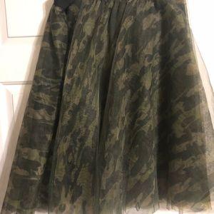 Camo Tulle Skirt